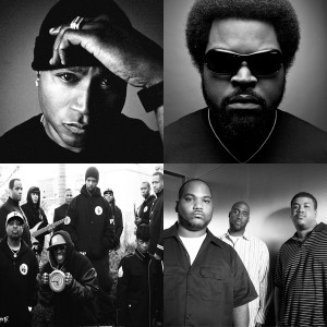 Legendary hip-hoppers De La Soul, Ice Cube, LL Cool J and Public Enemy.