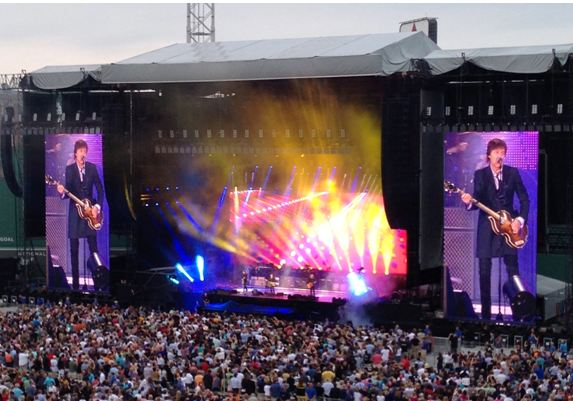 Paul McCartney performing in Boston, July 2013.