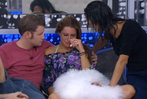 Elissa crying