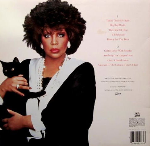 """The back cover of Patti Austin's album """"Gettin' Away With Murder"""""""