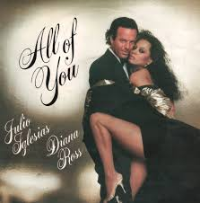 "Julio Iglesias & Diana Ross ""All Of You"" single cover"